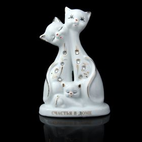"""Souvenir """"Kittens with rhinestones. Happiness in the house"""""""