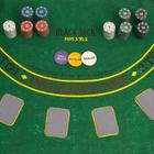 Poker game set (cards 2 decks, chips 200 PCs C/t, cloth 60x90 cm) mix