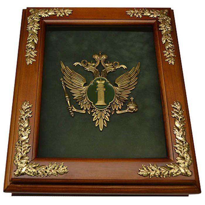 Деревянная ключница «Эмблема Министерства Юстиции РФ» (Минюст России) настенная