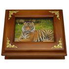 Деревянная ключница «Тигр» малая