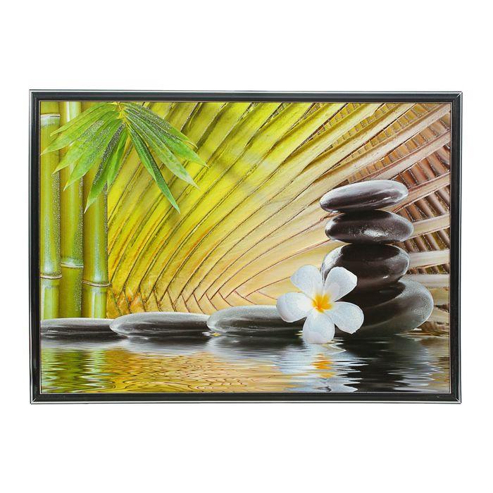 """Картина """"Камни и бамбук"""""""