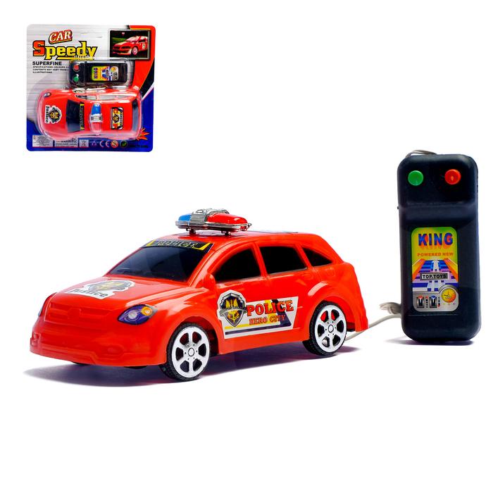 Машина на дистанционном управлении «Полиция», работает от батареек, цвета МИКС