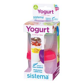 Ёмкость для йогурта TO-GO, 150 мл, 2 шт, микс