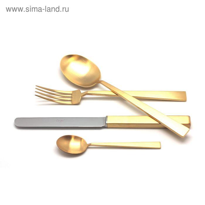 Набор столовых приборов BAUHAUS GOLD мат. 24 пр.