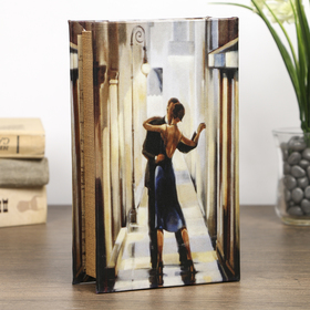 """Safe-the book """"Dance in the mirror"""", covered with silk"""