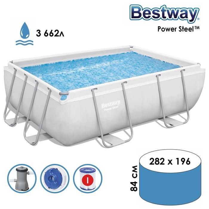Бассейн каркасный Frame Pool Set, 282 х 196 х 84 см, фильтр-насос, 56629 Bestway