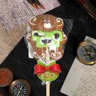 Пряник имбирно-медовый Мишка военный на палочке ТМ Пекарня Sofi, 40 г