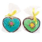 Пряник имбирно-медовый Сердце с пожеланиями ТМ Пекарня Sofi, 100 г