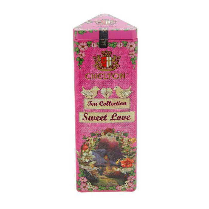 Цейлонский чай Chelton 50г ж/б -16шт. Сладкая Любовь/ Sweet Love (розовая)