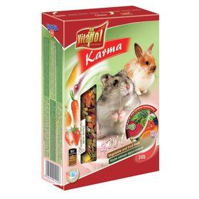 Корм Vitapol для хомяков и кроликов, фруктово-овощной, 340 г.