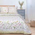"""Постельное бельё """"Этель"""" 1.5 сп Полевые цветы 143х215 см, 150х214 см, 70х70 см - 2 шт., поплин 125 г/м2"""