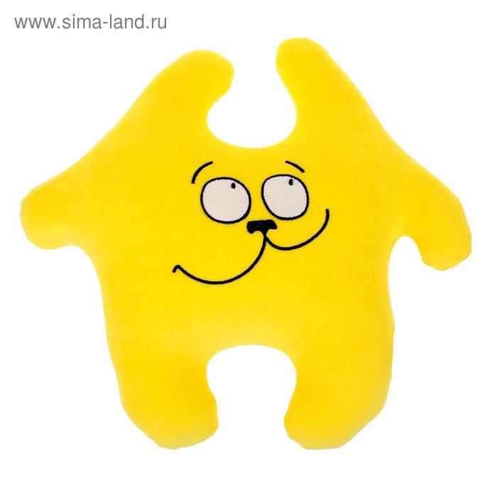 """Мягкая игрушка-антистресс """"Заяц Хрустик 04"""", цвет желтый"""