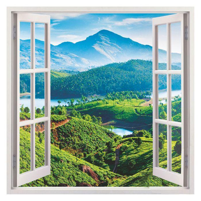 Фотообои К-115 «Вид из окна» (4 листа), 140 × 140 см