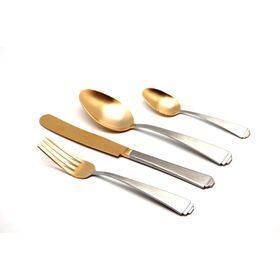 Набор столовых приборов Sirius Mat+Old Gold, 24 предмета