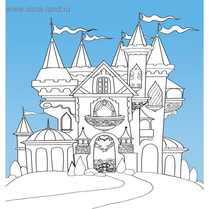 фотообои раскраска замок принцессы 256х270см 2021992