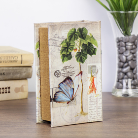 "Safe-book ""Nature"", covered with silk"