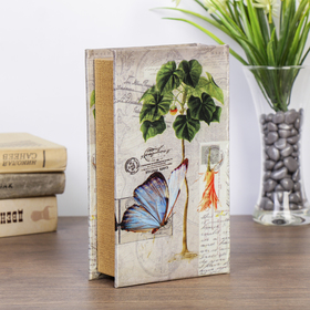"""Safe-book """"Nature"""", covered with silk"""