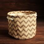 Упаковка для композиций, джут, 13 х 13 х 10 см, коричневые зигзаги