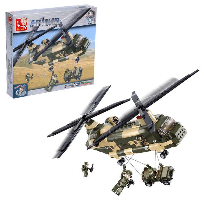 Конструктор «Военный транспортный вертолёт», 520 деталей