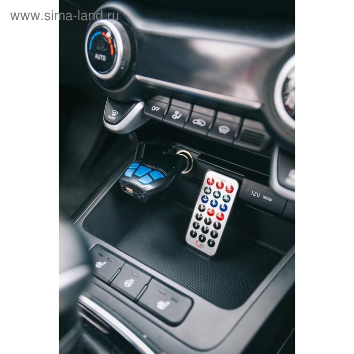 FM - трансмиттер, 12 В, USB/Mp3/WMA/AUX/MicroSD, МИКС
