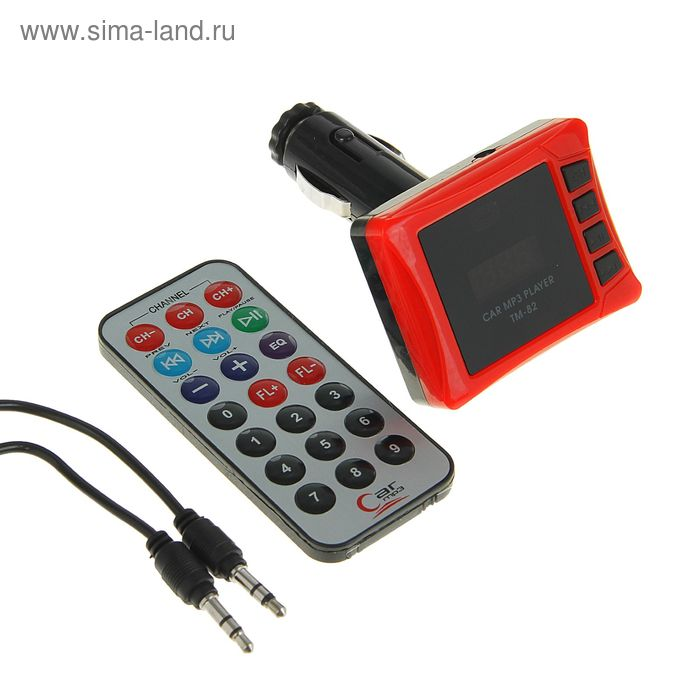 FM - трансмиттер TORSO, 12 В, USB/Mp3/WMA/SD/MicroSD/AUX, МИКС