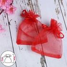 Мешочек подарочный 7x9, цвет красный