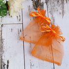 Мешочек подарочный 7x9, цвет оранжевый