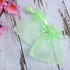 Мешочек подарочный 7x9, цвет светло-зеленый