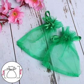 Мешочек подарочный 7*9, цвет темно-зелёный Ош