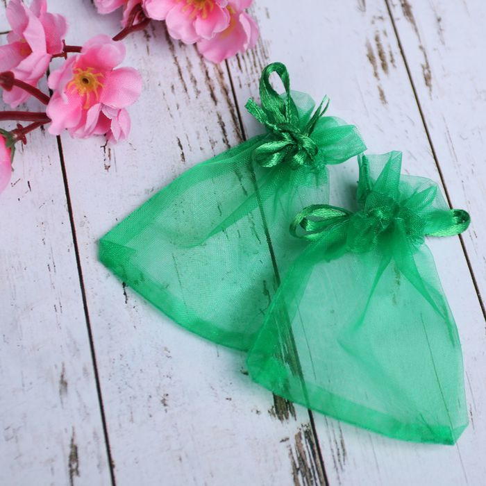 Мешочек подарочный 7x9, цвет темно-зеленый