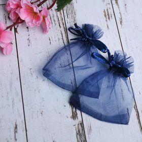 Мешочек подарочный 7*9, цвет темно-синий в Донецке