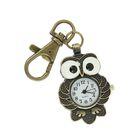 Карманные кварцевые часы «Совушка», на карабине