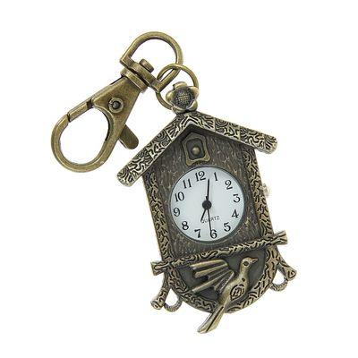 Карманные кварцевые часы «Кукушка в домике», на карабине