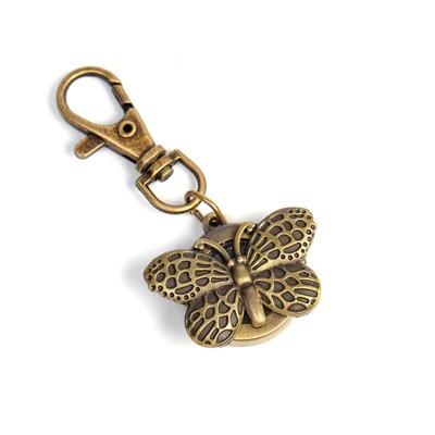 Карманные кварцевые часы «Бабочка» с крышкой, на карабине