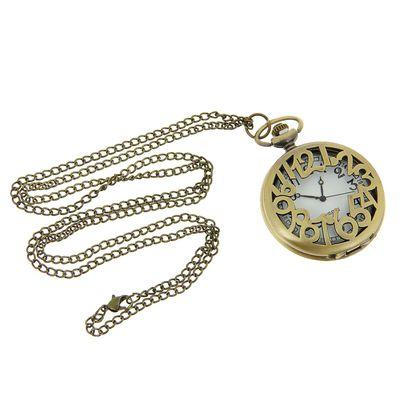 Карманные кварцевые часы «Цифры», на цепочке 80 см