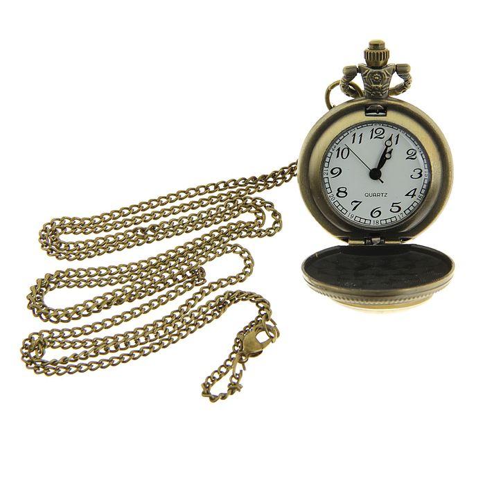 6ee56ab6 Часы карманные 'Бабочка и розы', кварцевые, на цепочке 80 см, d=3.5 ...