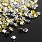Стразы (набор 10грамм, 300шт), 4мм, цвет золотой №9