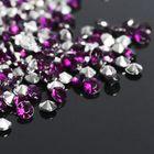 Стразы (набор 10грамм, 300шт), 4мм, цвет фиолетовый №10