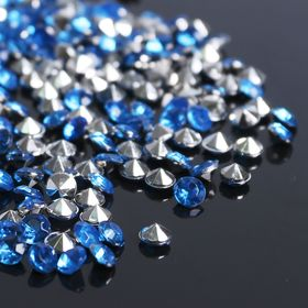 Rhinestones (set 10gram, 300pcs), 4mm, color light blue No. 33.