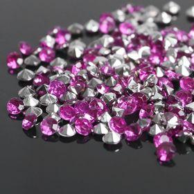 Rhinestones (set 10 grams, 300pcs), 4 mm, color hot pink No. 34.
