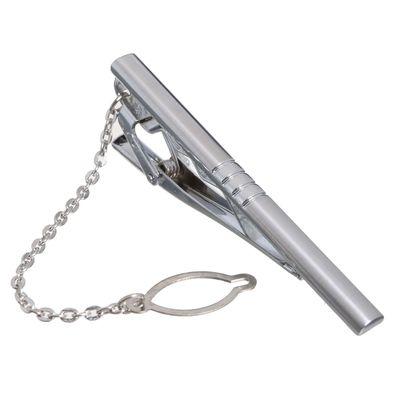 """Зажим для галстука стальной """"Классический"""" цилиндр, цвет серебряный"""