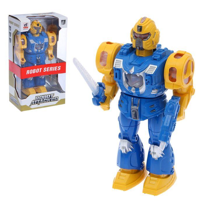 """Робот """"Супербот"""" работает от батареек, световые и звуковые эффекты"""
