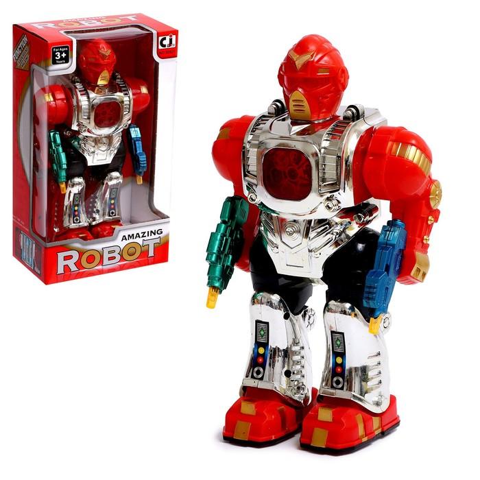"""Робот """"Стрелок"""" работает от батареек, световые и звуковые эффекты цвета:МИКС"""