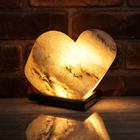 """Соляной светильник """"Сердце"""", цельный кристалл, 4-5 кг"""
