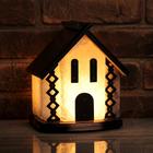 """Соляной светильник """"Домик"""", цельный кристалл, 5-6 кг, деревянный декор"""