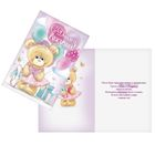 "Greeting card ""happy Birthday"" Little ballerina, glitter 12 x 18 cm"