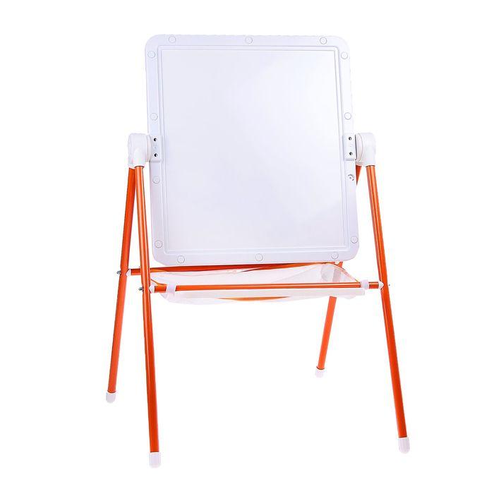 Мольберт детский универсальный, цвет бело-оранжевый