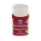 Краска по стеклу и керамике запекаемая LeFranc&Borgeois Glass&Tile, 50 мл, Прозрачная 325 бордовая LF210906