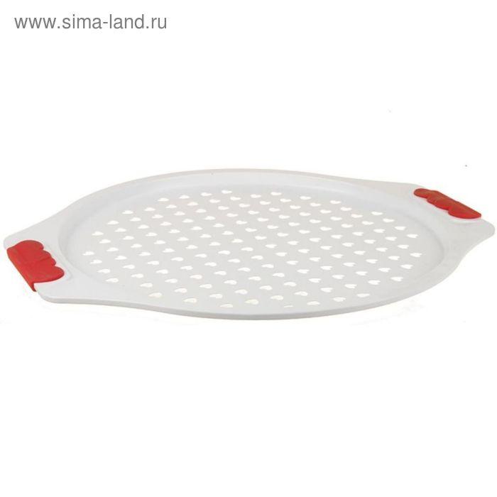 Поднос для пиццы 31см круглый с керамическим покрытием.