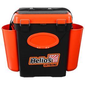 Ящик зимний Helios FishBox 10 л, односекционный, цвет оранжевый Ош